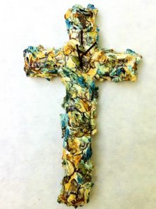 teal and tarragon POP cross